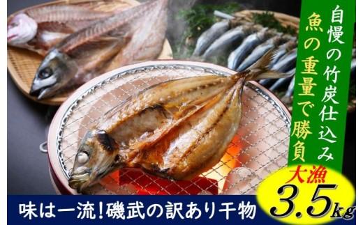魚の数より重量でしょ!味は一流、磯武訳あり干物3.5kg超え