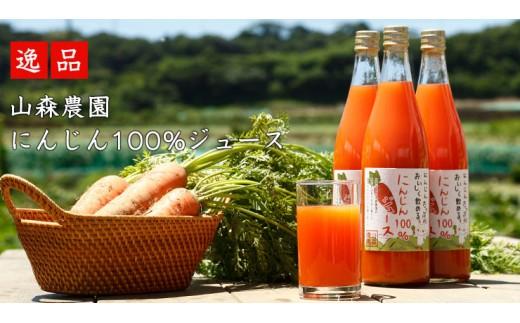 1-110山森農園の人参100%ジュース3本入り【着色料・甘味料不使用】