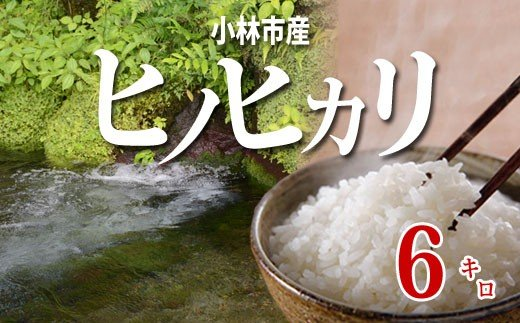 「特A米」小林産ヒノヒカリ(無洗米)<6kg:西諸米穀商協同組合> SNB06
