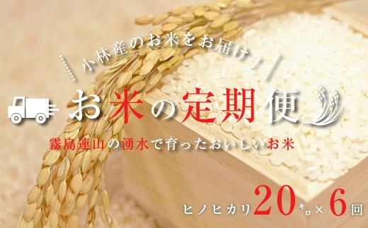 【定期便:全6回】里山のおいしいヒノヒカリ<20kg×6回> SKM10