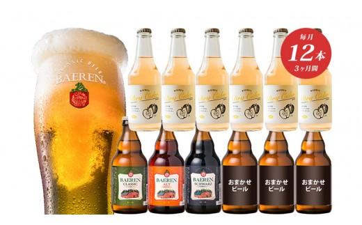 【毎月12本3ケ月お届け】ドライサイダー&定番と季節のクラフトビール