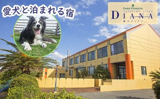 【2名様分】ペットと泊まれる宿 CARO FORESTA 館山 DIANA 1泊2食付宿泊券