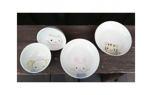 子供食器 4点セット / 食器 茶碗 お皿 熊本県
