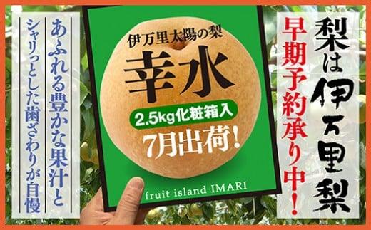 B159【令和3年産先行予約】伊万里梨「幸水」化粧箱入(約2.5kg)