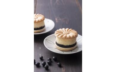 和菓子職人の作る濃厚、黒豆チーズケーキB