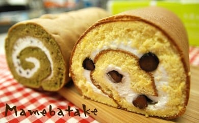 お菓子屋豆畑のロールケーキセット