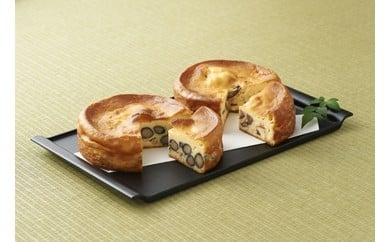 丹波篠山の味「五つ星ひょうご選定・丹波黒豆チーズケーキ&丹波栗のチーズケーキセット」