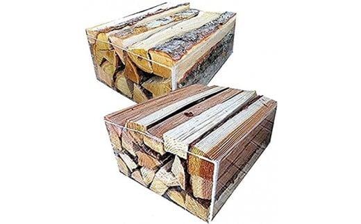 No52 良く燃える針葉樹の薪と火持ちの良い広葉樹の薪  2セット