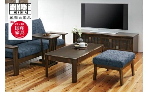 引き出し付きリビングテーブル オーク材 飛騨の家具 イバタインテリア