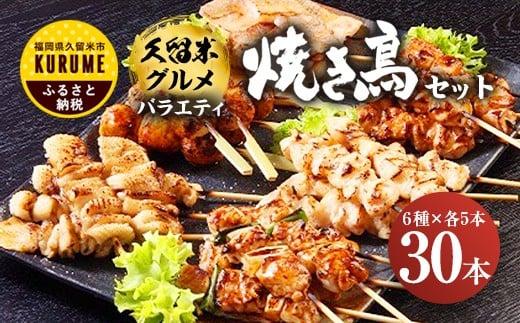 【30本セット】久留米グルメ バラエティ焼き鳥セット