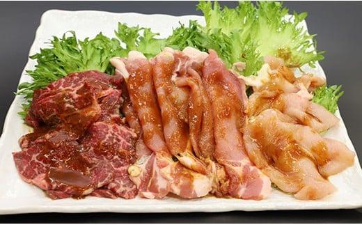 牛肉カルビ・鶏ムネ・豚ロースの3種セット!