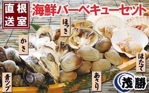 A-04004  海鮮バーベキューセット(ほたて、ほっき貝、かき、青ツブ、あさり)