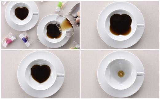 AB18 【波佐見焼】幸せのサプライズ 水晶ストーリーカップ コーヒー碗皿2客セット【丹心窯】-3