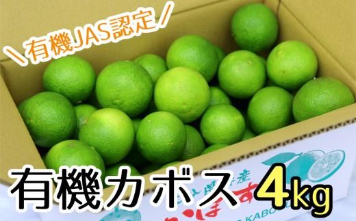 【先行予約】安心安全♪有機JAS認証のカボス青果(4kg)