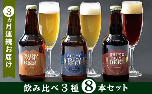 14-6【3ヵ月連続お届け】しもつまクラフトビール8本セット