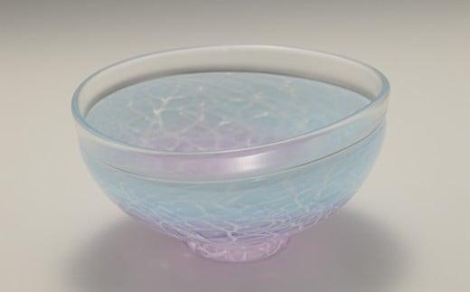 楕円鉢  (紫×水色) 川原有造作【1032629】