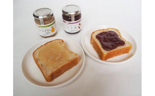 『朝食に!』食パンにあんこジャムを塗って。お好みで一緒にバターをのせても。