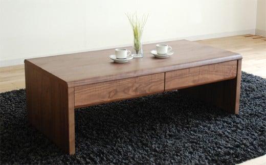 02-CC-1456・リビングテーブル「NEWベルグ Lテーブル」ブラウン