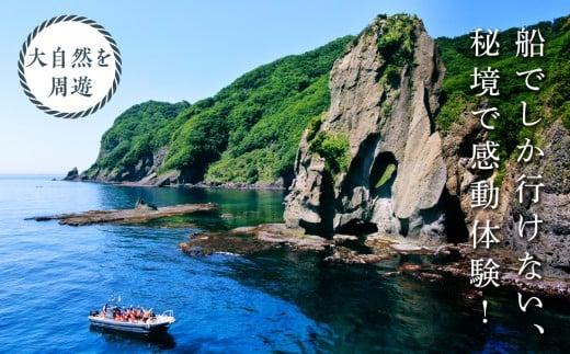 【道南の秘境】岩部クルーズ乗船券1枚