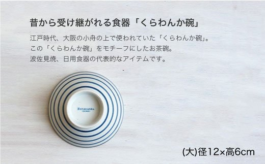 WB17 【波佐見焼】kurawankaボーダー柄 6点セット【和山】-3