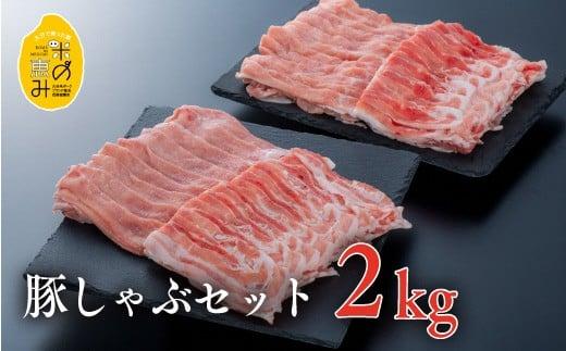 E-30 (合計2kg)中川さんちの米の恵み豚しゃぶセット