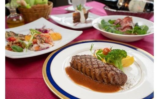 メイン料理は贅沢な『黒田庄和牛もも肉のグリル マルサラソース』!黒田庄和牛は、神戸ビーフの素牛として有名です。