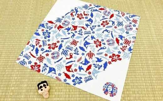 335 フラシティいわき オリジナル風呂敷「フラしき」大小セット 三色ver.
