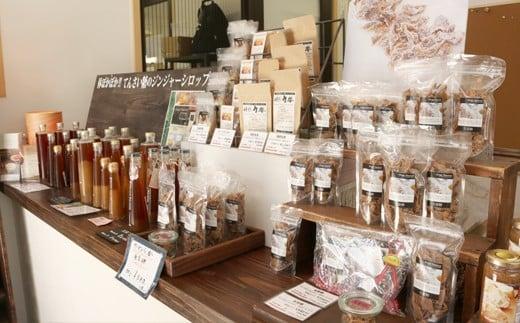 福山市内の店舗にも生姜商品が沢山並んでいます