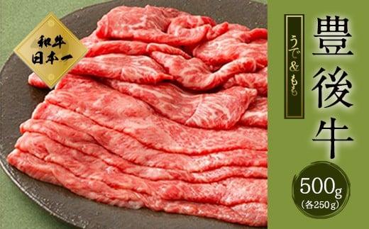 大分県竹田市産 おおいた和牛 うで・もも すき焼き用 【500g】