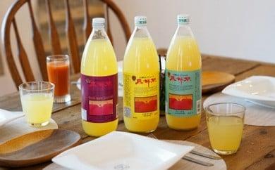 江刺りんごジュース 三姉妹(1000ml瓶×6本) ストレート果汁100%