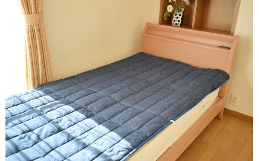 藍染めシルクベッドパッド