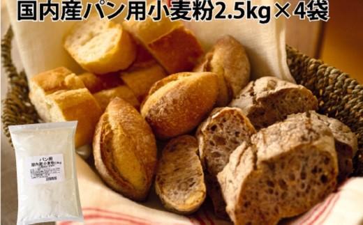 【国内産100%】パン用小麦粉2.5kg×4袋(計10kg) H008-025