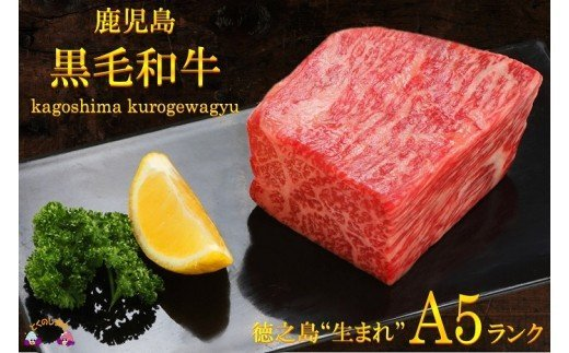 """691徳之島""""生まれ""""A5ランク鹿児島県産黒毛和牛赤身ブロック""""幸せ""""ギフト"""