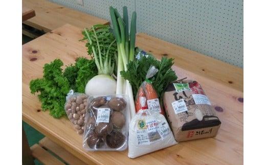 当駅内直売所で販売されている朝採り野菜。素材の味が濃厚です。