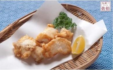 ふぐ養殖漁師が調理「(生姜にんにく醤油味)とらふぐから揚げ用」