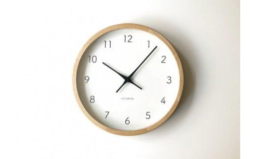 【B-25】KATOMOKU ホワイトアッシュの無垢材の木枠電波時計