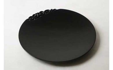 鎌倉彫博古堂 平皿 「ぐり唐草」 (黒色)