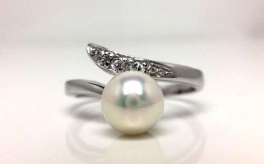 【020-97】老舗の真珠専門店・高品質アコヤ真珠リング6.5~7.0ミリフリーサイズ*
