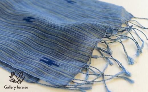 【琉球藍染織物】花藍舎・ストール【絣モダーン】