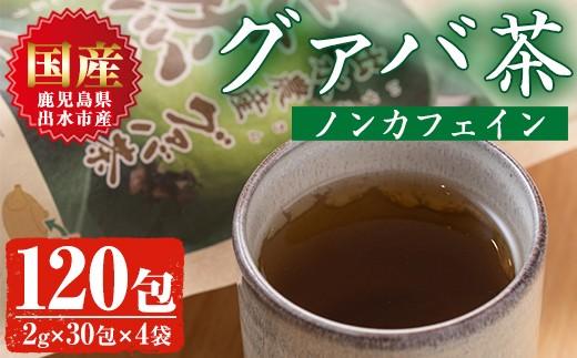 出水農産グァバ茶 快然王(30包×4袋)