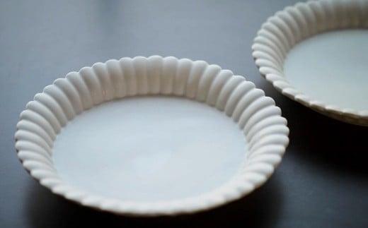 〔臼杵焼〕輪花デザート皿(大)2枚セット