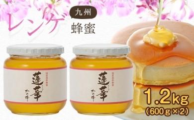 <国産>九州レンゲ蜂蜜1.2kg【600g×2個】採蜜できる量が少ない貴重な純粋蜂蜜