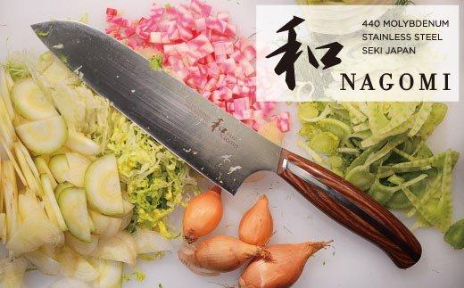 【和 NAGOMI】『三徳』包丁「肉 魚 野菜用」刃渡り180mm【明治6年創業 三星刃物】高品質 万能包丁  H34-19