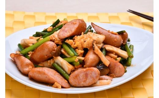 スモークウインナー調理例 お食事やおつまみはもちろん、お弁当にも最適。