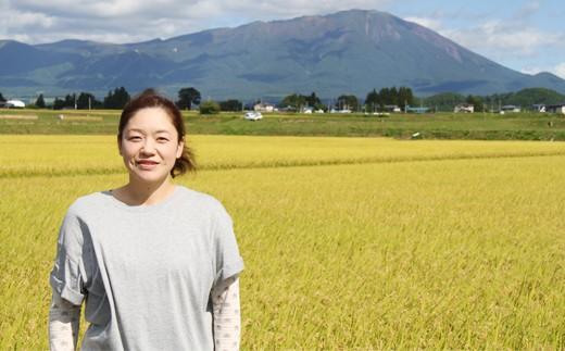 岩手山のよく見える田んぼで、銀河たんたん米は育っています。