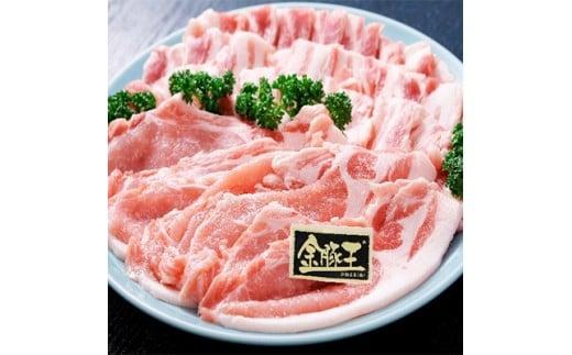 金豚王ロース・バラ焼肉用セット約700g【1021304】