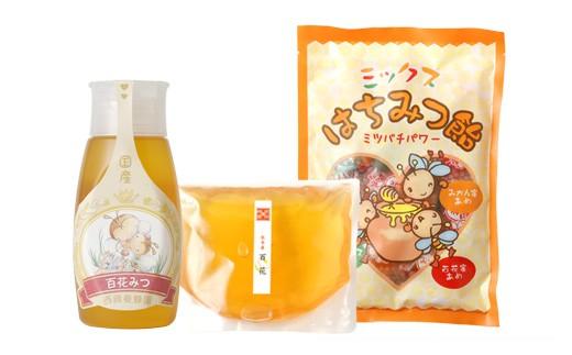 【選べる蜂蜜】チューブ入り蜂蜜1本 袋入り蜂蜜1袋 蜂蜜あめ1袋