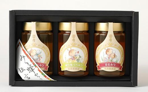 プレミアムギフト(れんげ蜂蜜 百花蜂蜜 晩白柚蜂蜜 350g×各1本)