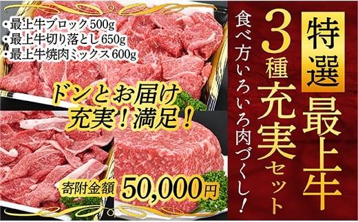 050-G001 特選最上牛3種充実セット