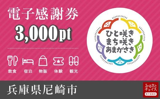 宿泊・食事・観光の支払いに使える!尼崎市 電子感謝券 3,000ポイント